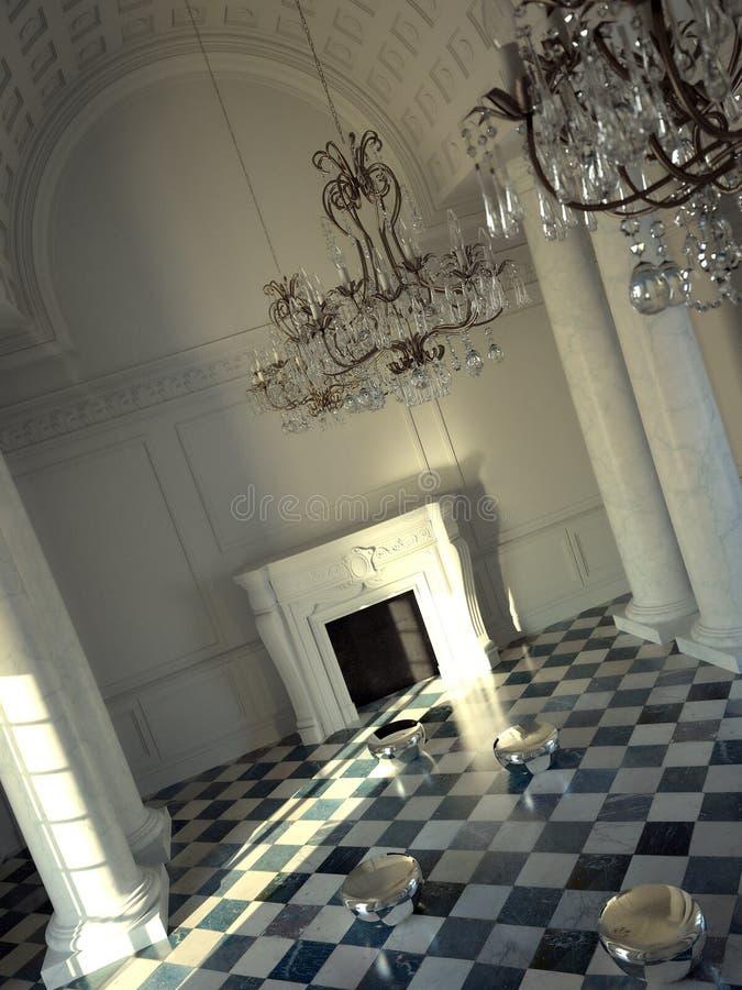 Interior clássico grande do salão fotografia de stock royalty free