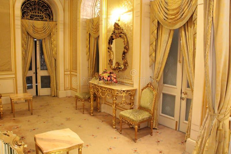 Interior clássico  Istana Negara, Jalan Tuanku Abdul Halim Royal Palace fotografia de stock royalty free