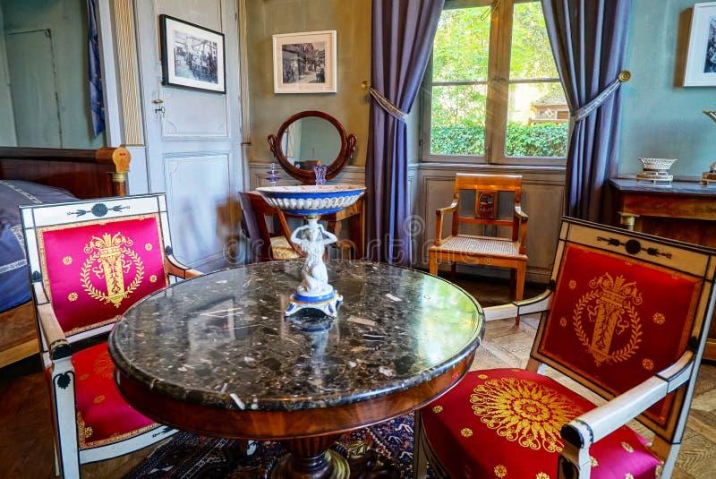 Interior clássico rico bonito XIX do século imagens de stock