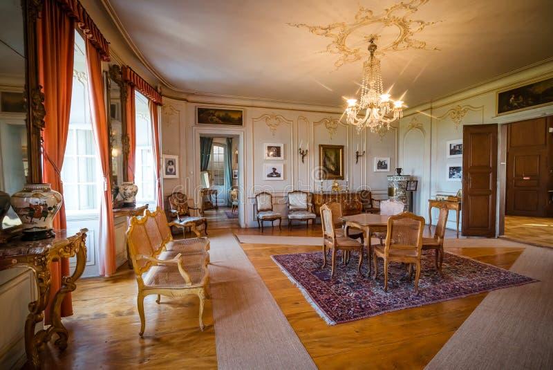 Interior clássico rico bonito XIX do século fotos de stock