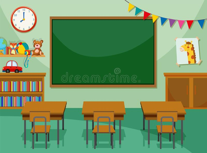 Interior of class room stock illustration