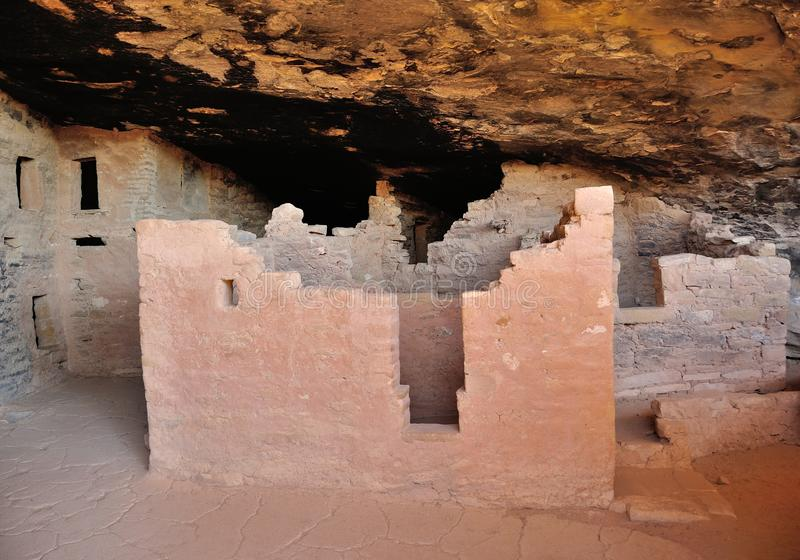 Interior of cliff dwelling in Mesa Verde royalty free stock photo