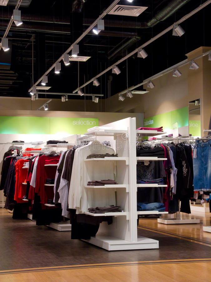Download Interior of clothing store stock image. Image of commercial - 22333327