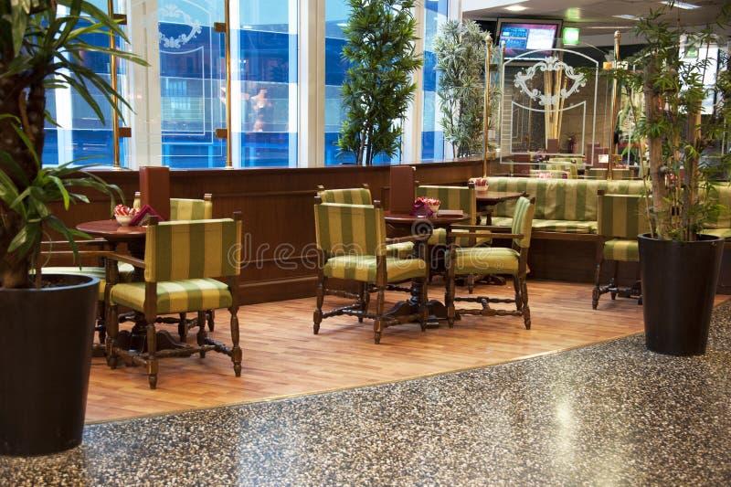 Interior coffee bar. Interior of a elegant coffee bar royalty free stock image