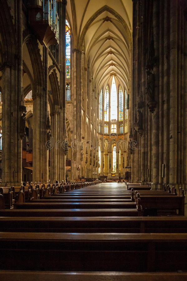 Interior of Cologne Cathedral, Germany royalty free stock image