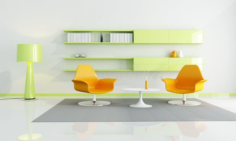Interior coloreado brillante stock de ilustración