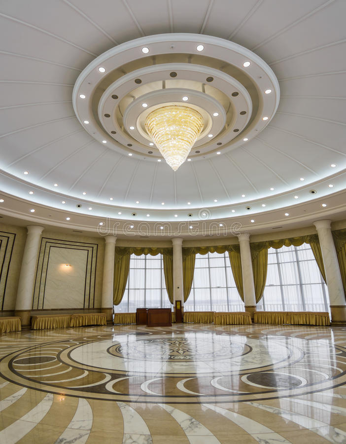 Download Interior Of The  Columned Hall With A Chandelier Stock Photo - Image: 24389722