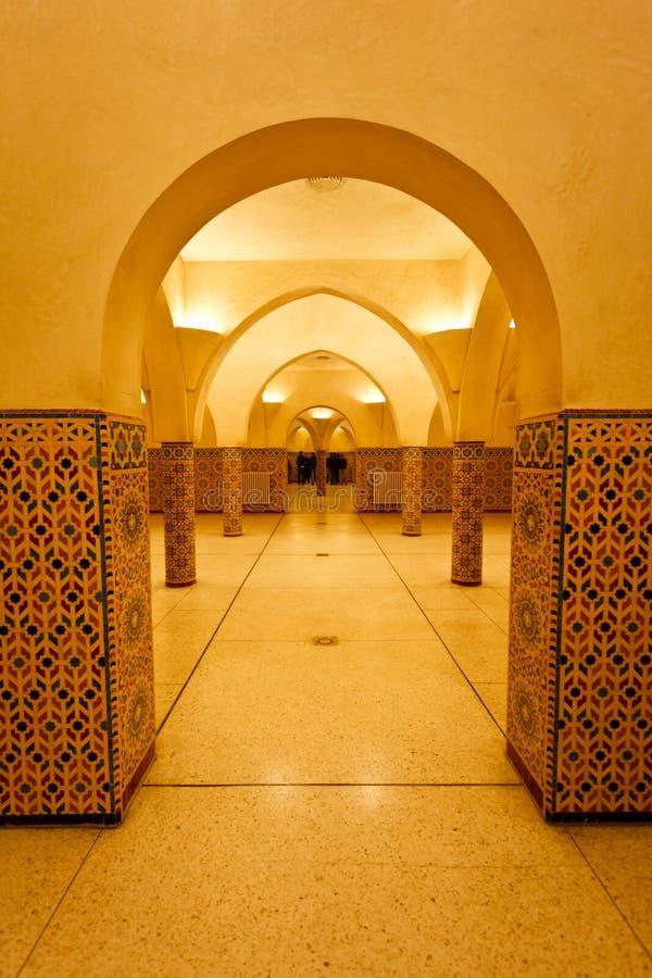 Interior Columns Of Hammam Turkish Bath Stock Photo