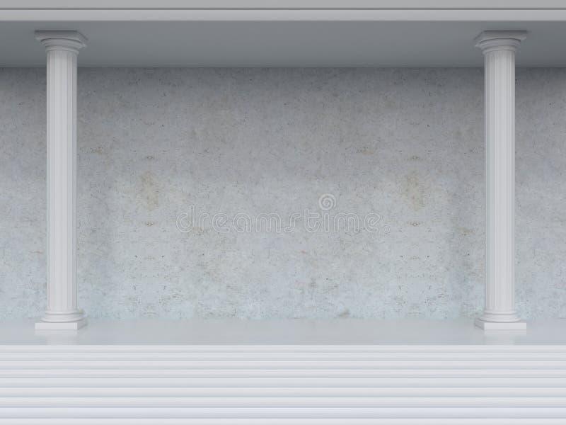 Interior com colunas imagem de stock