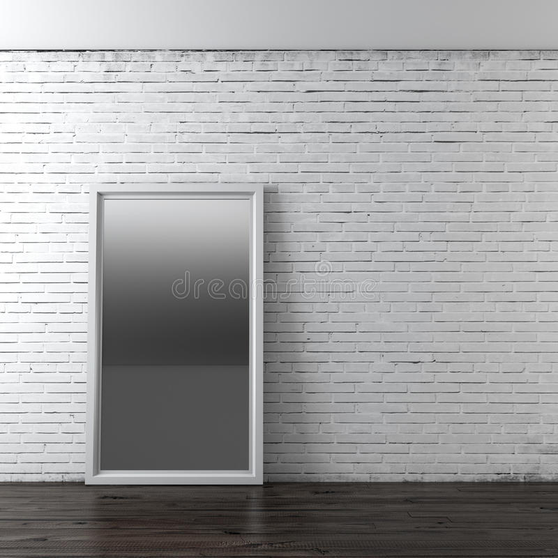 Interior com espelho ilustração royalty free