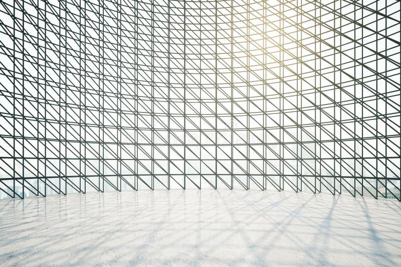Interior com grades escuras da janela ilustração stock