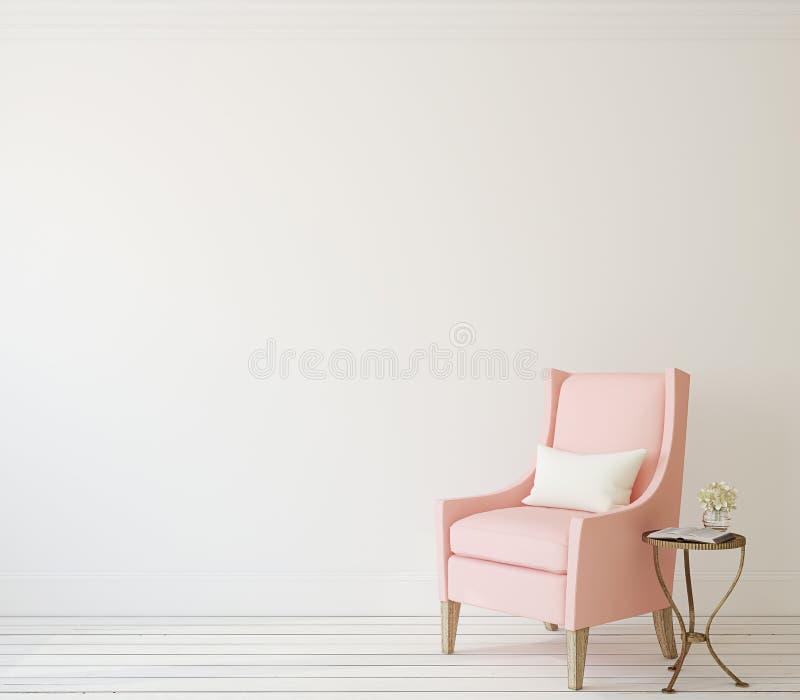 Interior com poltrona ilustração royalty free