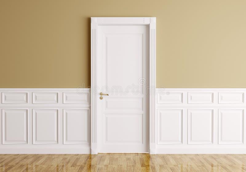 Interior com porta clássica ilustração royalty free