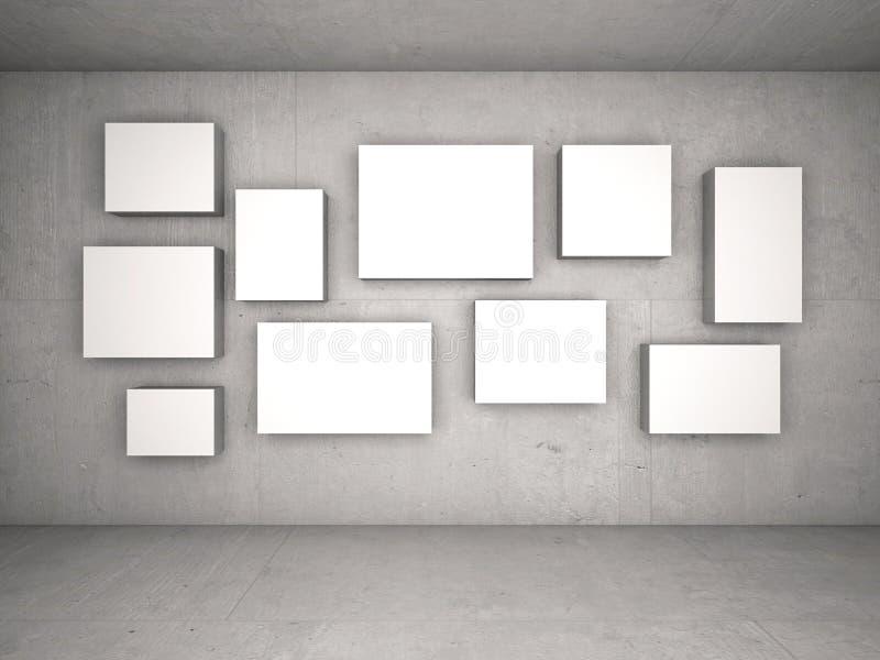 Interior com quadros vazios na parede ilustração royalty free