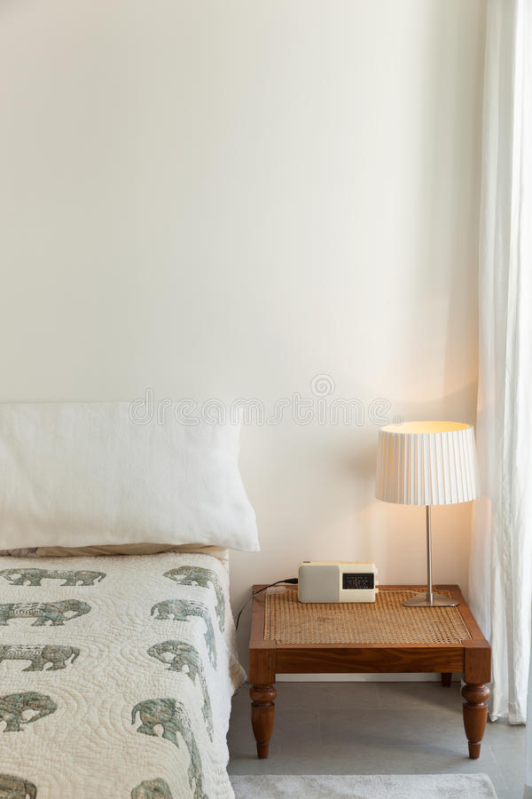 Interior, comfortable bedroom royalty free stock photo