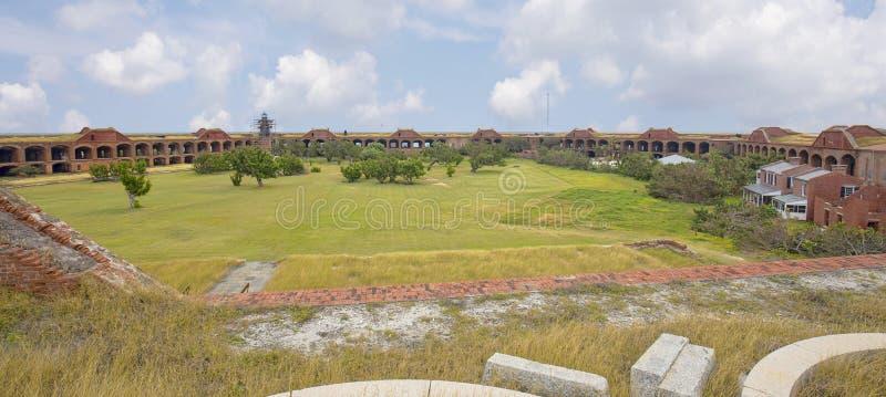 Interior completo del fuerte Jefferson, Tortugas seco foto de archivo