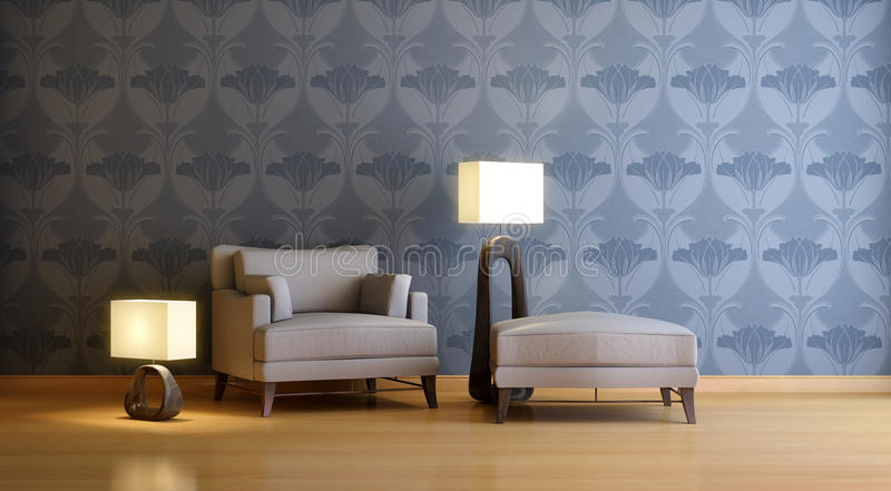 Interior composition royalty free illustration