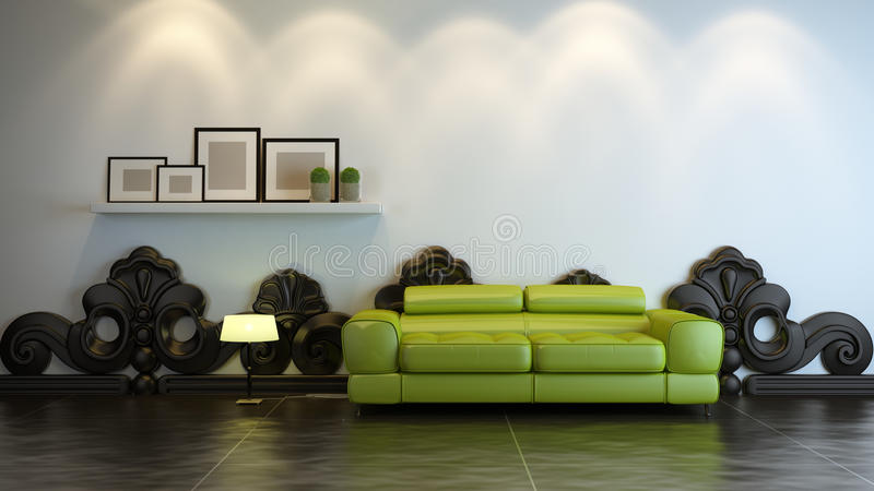 Interior composition vector illustration