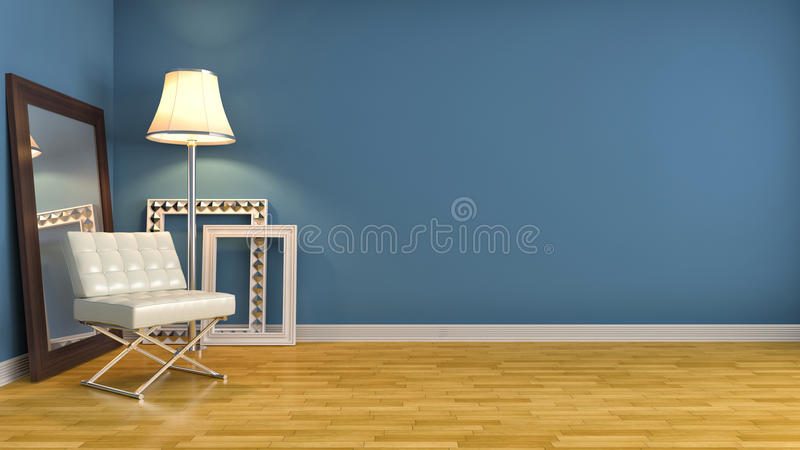 Interior con la silla ilustración 3D ilustración del vector
