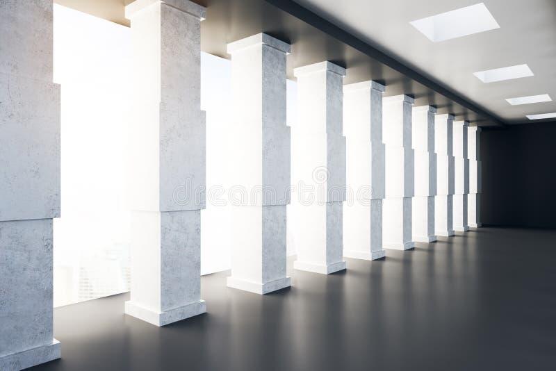 Interior concreto contemporâneo do túnel ilustração royalty free
