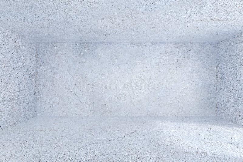 Interior concreto de la oficina del grunge moderno con la pared vacía representación 3d ilustración del vector