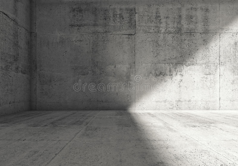 Interior concreto oscuro vacío abstracto del sitio 3d libre illustration