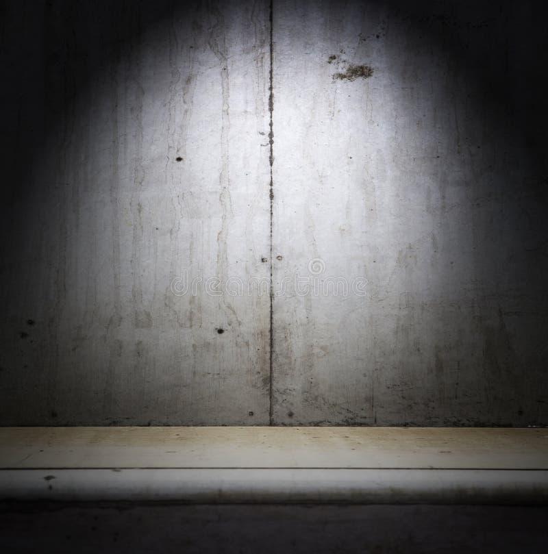 Interior concreto sucio del sitio imagen de archivo