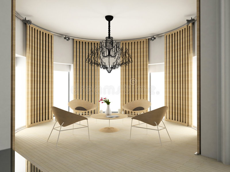Interior confortável moderno ilustração do vetor