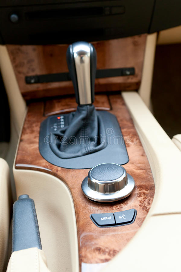 Free Interior Console Of Luxury Car Royalty Free Stock Image - 24640826