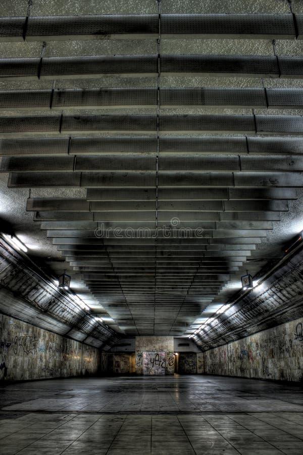 Interior constructivo destruido foto de archivo