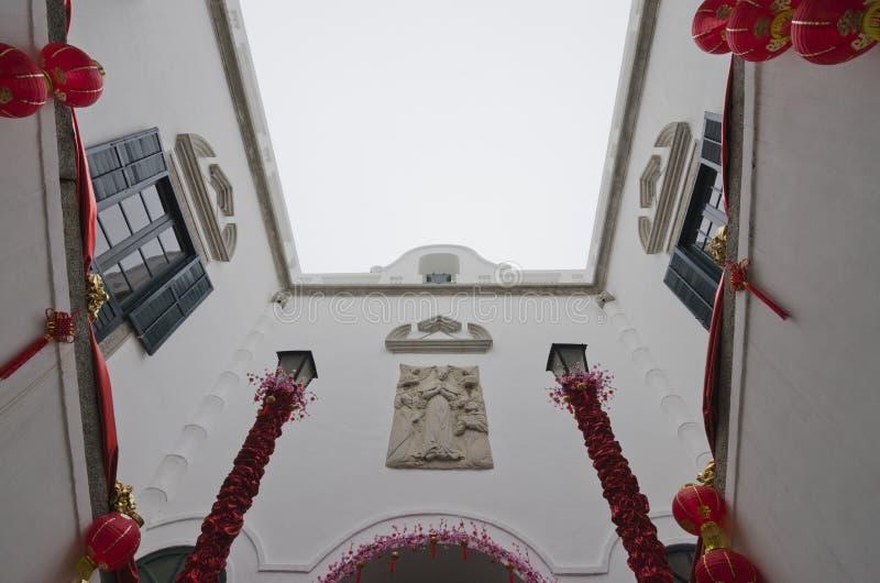 Interior constructivo Leal de Senado en Macao foto de archivo libre de regalías