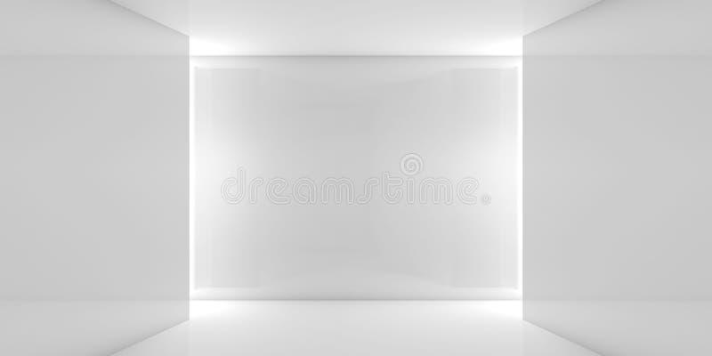 Interior contemporáneo blanco ancho abstracto stock de ilustración