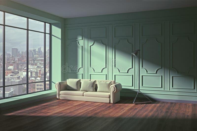 Interior contemporáneo de la sala de estar ilustración del vector