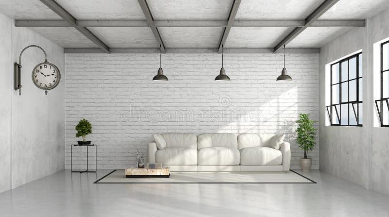 Interior contemporáneo del desván ilustración del vector