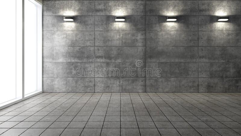 Interior contemporáneo del desván de la sala de estar representación 3d libre illustration