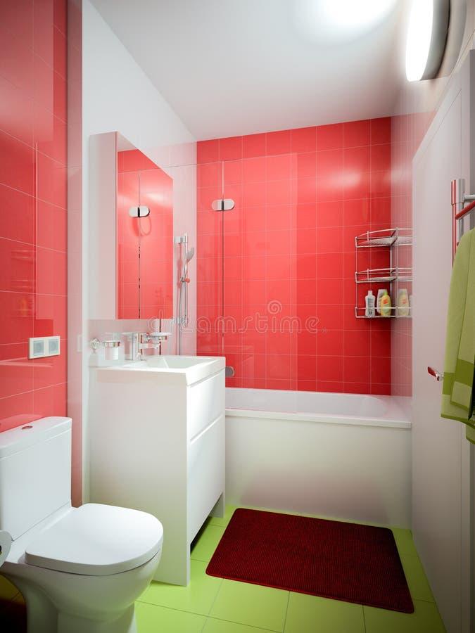 Interior contemporáneo urbano moderno del WC del cuarto de baño stock de ilustración