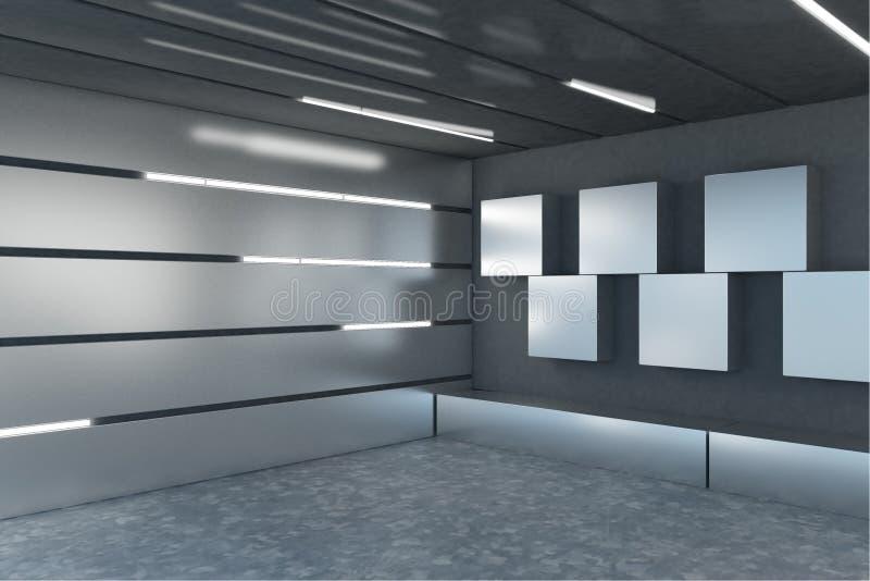 Interior contemporâneo da garagem ilustração do vetor