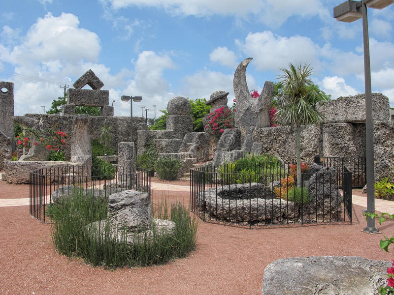 Interior of Coral Castle in Florida, USA royalty free stock images