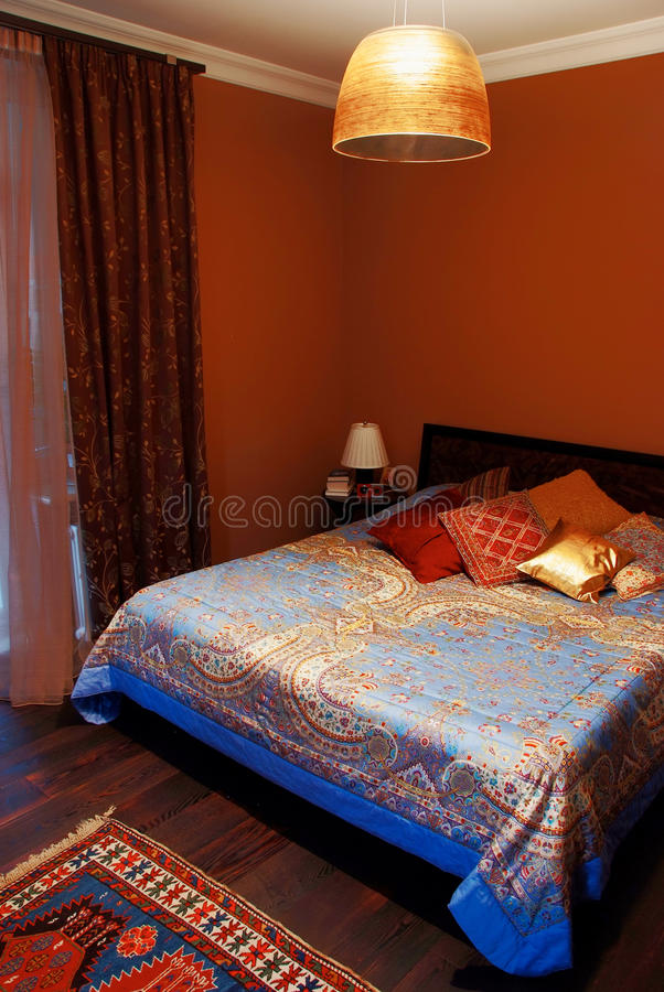 Download Interior of cosy bedroom stock image. Image of apartment - 19993479