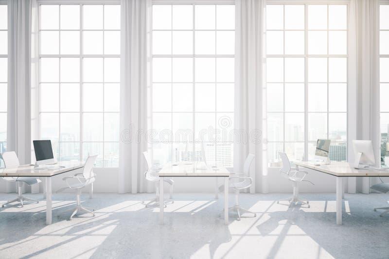 Interior coworking claro do escritório ilustração royalty free