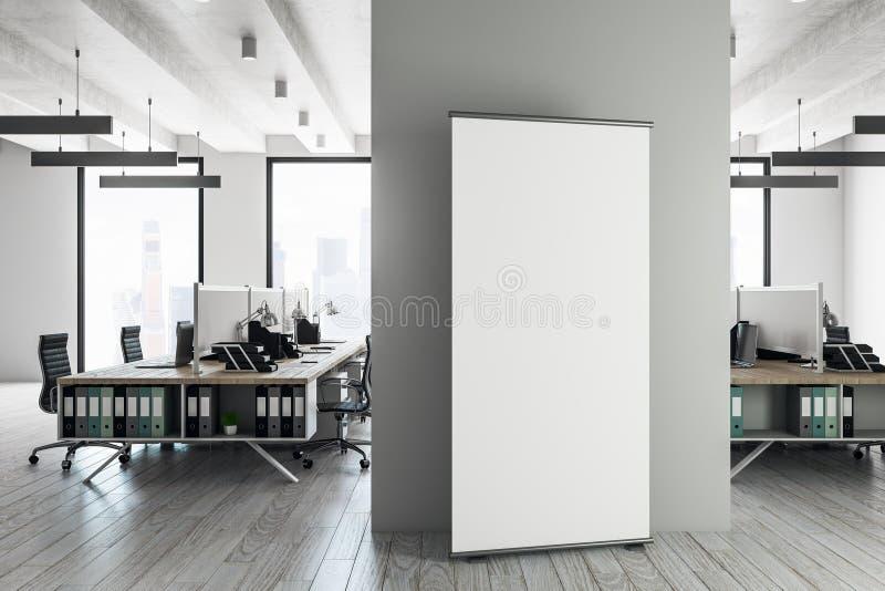 Interior coworking do contemporâneo com quadro de avisos ilustração royalty free