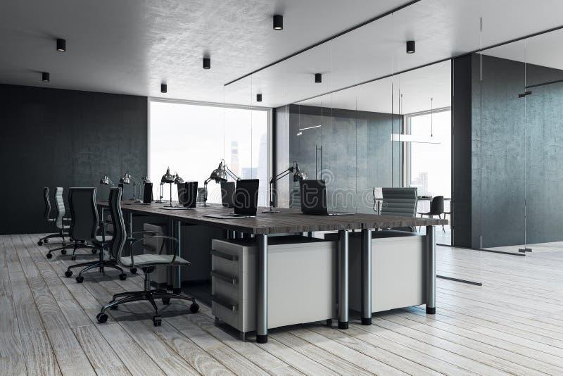 Interior coworking elegante de la oficina libre illustration