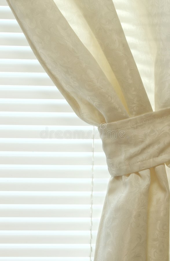 Interior Curtain And Blinds Stock Image