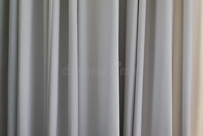 Interior Curtain Luxury. Shallow of Depth on Wave Luxury Curtain Cloth Fabric Wall Backgr royalty free stock images