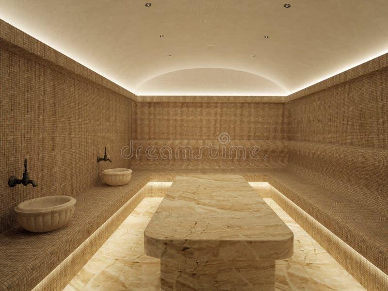 interior 3d do hammam luxuoso do banho turco fotos de stock royalty free