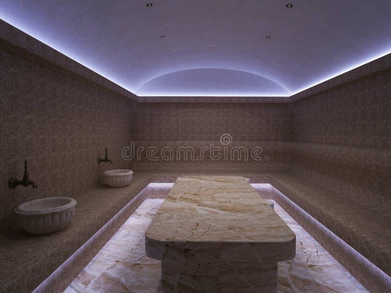 interior 3d do hammam luxuoso do banho turco fotos de stock