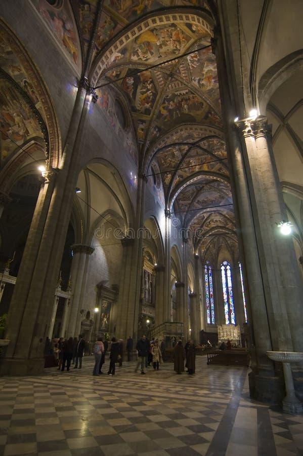 Interior da abóbada de Arezzo (Italy) fotos de stock royalty free