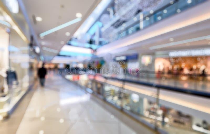Interior da alameda luxuosa como o fundo abstrato criativo do borrão imagens de stock royalty free