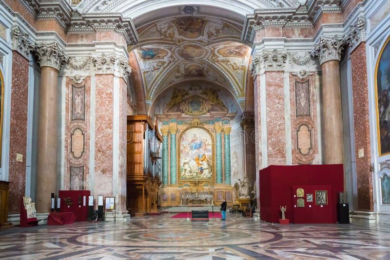 Interior da basílica de St Mary dos anjos e do Marty foto de stock royalty free