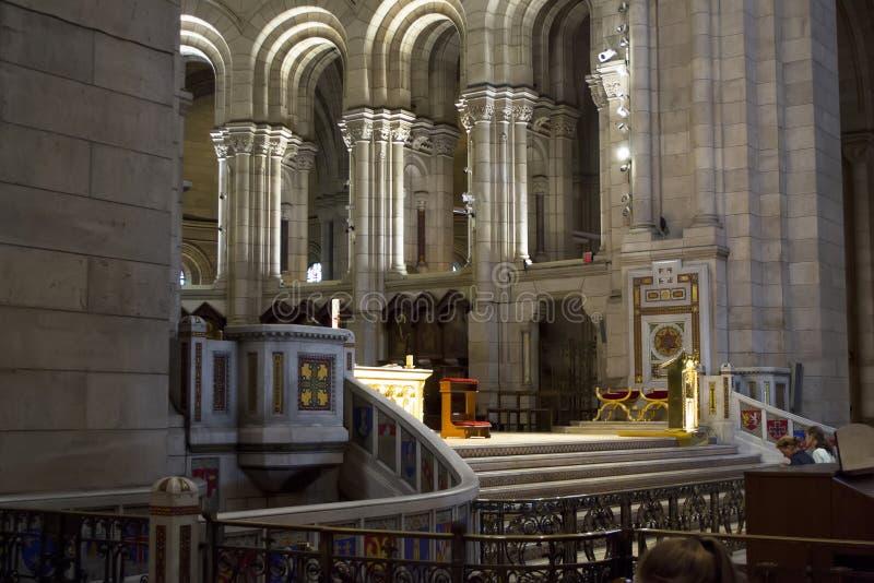 Interior da Basilica Sacre Coeur foto de stock royalty free